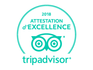 Tripadvisor a décerné l'Attestation d'Excellence à l'Agence Wake Up Lyon Live Escape Game.