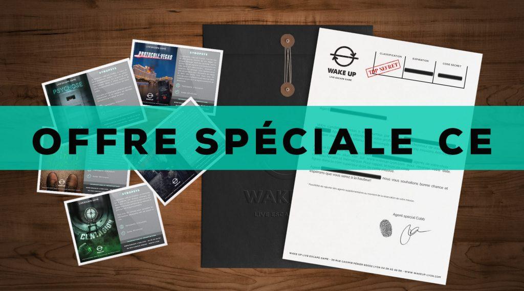 L'Agence Wake Up Lyon Live Escape Game vous propose des réductions spéciales pour les comités d'entreprise